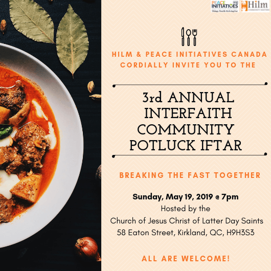 3rd Annual Interfaith Community Iftar